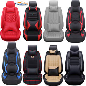100 Top Pu Leather Car Seat Covers 5 Seats Full Set Car Suv Truck Front Rear