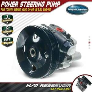 Power Steering Pump W Pulley Fit Toyota Sienna 04 06 3 3l Dohc 3mzfe