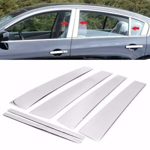 For 2007 2012 Nissan Altima 6pc Stainless Steel Chrome Pillar Post Trim Covers