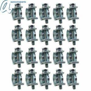 New 1 4 Fuel Injection Hose Clamp Auto Fuel Clamps 20pcs