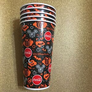 Disney halloween paper drinking cups coca cola 2016 lot of 4 collectible new