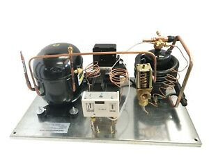 Water cooled Condensing Unit 3 4 Hp High Temp R404a 220v embraco Nt6217gkv2