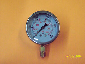 2 Inch Hydraulic Pressure Gauge liquid Filled 5000 Psi