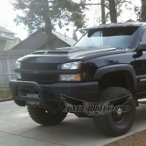 2006 2007 Chevy Silverado 1500 2500 Type e Style Functional Ram Air Hood