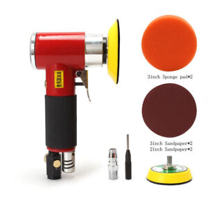 2 3 Mini Air Sander Kit Eccentric Orbital Dual Action Pneumatic Polisher Tool