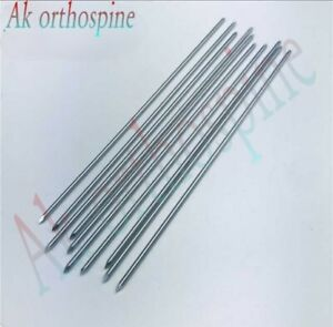 Orthopedic K Wire Double Ended Stainless Steel Lot Of 8 Size 10 Unit Surgical