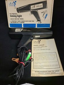 Vintage Sears 2158 Dc Power Timing Light In Box For Craftsman Works