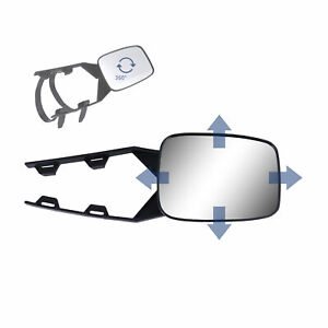 Clip on Towing Mirror For Trailer Safe Hauling Adjustable Extension Universal