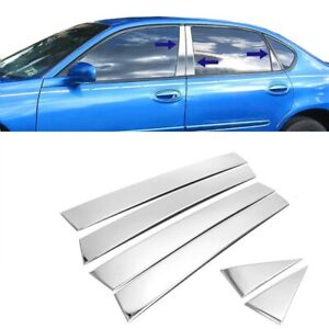 For 2000 2005 Chevy Impala 6pc Stainless Steel Chrome Pillar Post Trim Covers