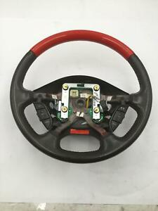 2002 Ford Thunderbird Steering Wheel Wood And Colorado Red Black Leather