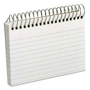 Oxford Spiral Index Cards 3 X 5 50 Cards White 078787402829