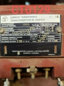 Westinghouse Current Transformer Ratio 1000 5 Type Kt 15