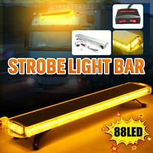 Us 47 88 Led Flash Warning Strobe Light Bar Emergency Beacon Truck Amber Yellow