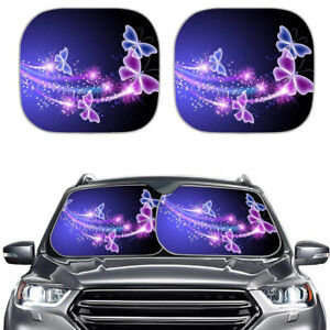 Fashion Butterfly Printed Car Sun Shades For Windshield Foldable Uv Protection 2