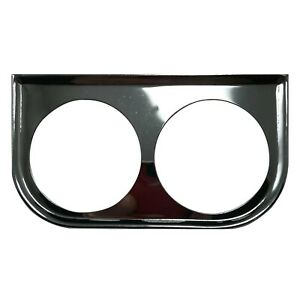Universal Metal Chrome Under Dash Double Gauge Mounting Panel 2 1 16 Inch