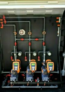 Prominent Sigma Three Pump Chemical Metering Pump System In Rolltop Enclosure
