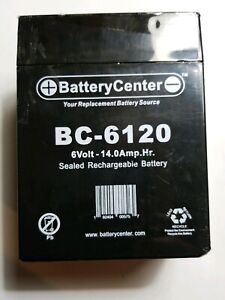 Bc 6120 6v 14ah Battery For Solar Powered Electric Fences Free Shipping