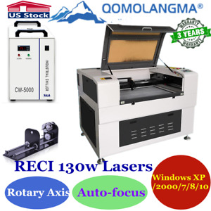Us 1300 X900mm 130w Reci Auto focus Co2 Laser Cutter Engraver Rotary Axis