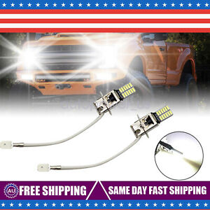 2 Pcs H3 Fog Driving Lights Cree Led Light Bulbs 6000k Bright White 100w 6000lm