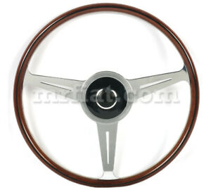 For Porsche 356 A Nardi Complete Mahogany Wood Flat Steering Wheel W Horn New