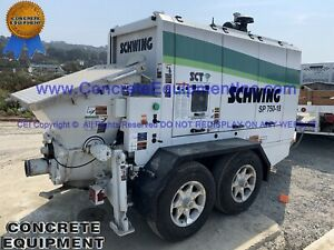 2020 Schwing 750 18 Tier 4 Concrete Shotcrete Pump 100 Hrs Demo