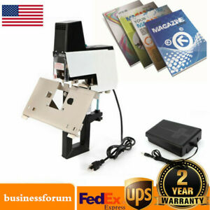 Electric 106 Auto Stapler Flat And Saddle Binder Machine Book Binding Machine Us