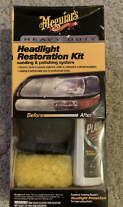 Meguiar s G3000 Heavy Duty Headlight Restoration Kit Restores Car Headlights New