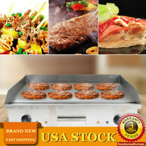 Commercial Electric Food Griddle Grill Countertop Flat Bbq Grill Cooking 4 4kw