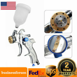 Air Spray Gun Hvlp Kit 2 0mm Nozzle Paint Touch Up Gravity Feed Atomization Usa