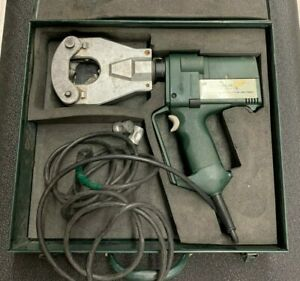 Greenlee Gator Plus Corded Hydraulic Crimper Ck06ft In Hard Case