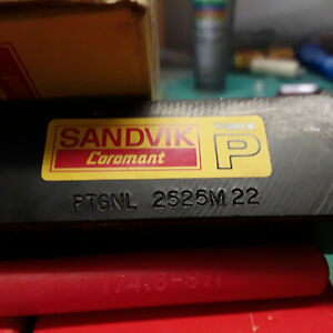 New Sandvik Ptgnl 2525 M 22 1 Tool Insert Holder Metal Lathe Carbide Turning