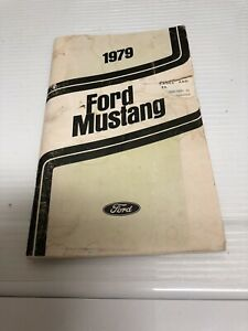1979 Ford Mustang Owners Manual