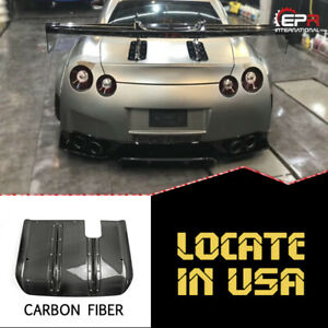 For Nissan Gtr R35 Lb Style Carbon Glossy Rear Diffuser Under Spillter Kit