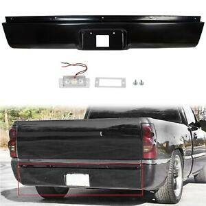 Rear Roll Pan With License Plate Light For 99 07 Chevy Silverado Gmc