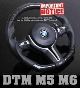 Dtm Genuine Carbon Smooth Leather Steering Wheel For Bmw F10 F12 F06 F07 M5 M6