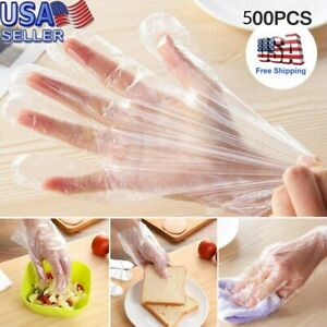 500 Plastic Disposable Gloves Restaurant Home Service Catering Hygiene Glove