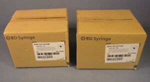 Lot Of 200 2 Boxes Of 100 Bd Syringe 3ml Luer lok Tip Syringes Ref 309585 Nib