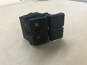 87 93 Ford Mustang Convertible Top Switch W Hazard Switch Control Bezel Oem