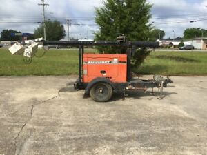 Whisperwatt 7000 Light Tower Generator Da 7000ss W Kubota Diesel Engine 7 7kw