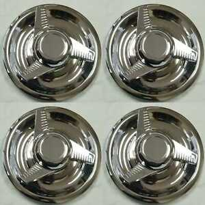 4 New Chevy Gm 3 Bar Spinners Rally Wheel Center Hub Caps Rim 5 Lug Nut Covers
