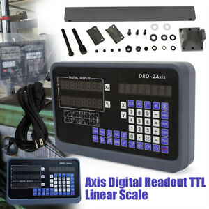 3 2axis Digital Readout Dro Display 5 m Ttl Linear Scale Cnc Milling Lathe Kit