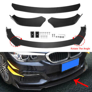 Carbon Fiber Car Front Bumper Lip Lower Chin Splitter Universal Spoiler Body Kit