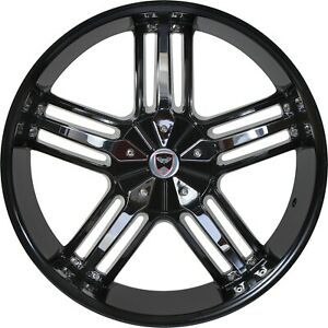 4 G37 22 Inch Black Chrome Rims Fits Ford Shelby Gt 500 2007 2018