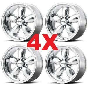 17 Wheels Rims American Racing Polished Aluminum Standard Torq C10