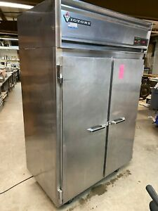 Victory Rsa 2d s7 Commercial 2 Door Stainless Steel Reach In Refrigerator Cooler