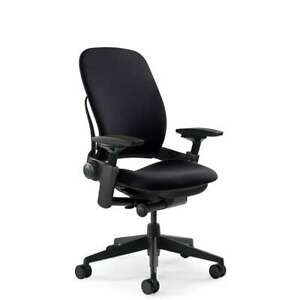 Steelcase Leap V2 Office Chair Black Fabric