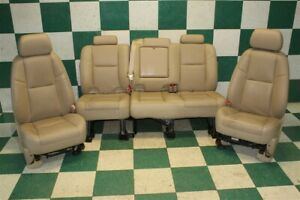 09 Avalanche Heated Cooled Tan Leather Power Bucket Backseat Seat Set An3 Oem