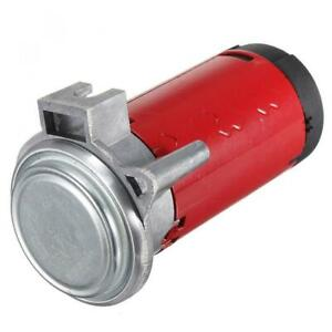 12v Red Air Horn Pump Compressor For Car Train Truck Boat Motorcycle Horn Kit Us