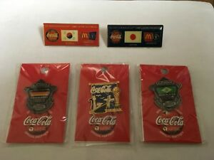 2002 FIFA WORLD CUP JAPAN COCA COLA PIN BADGE 5 PINS