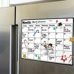 Fridge Calendar Magnetic Dry Erase Whiteboard Calendar 16 9 Inches X 11 8 Inches